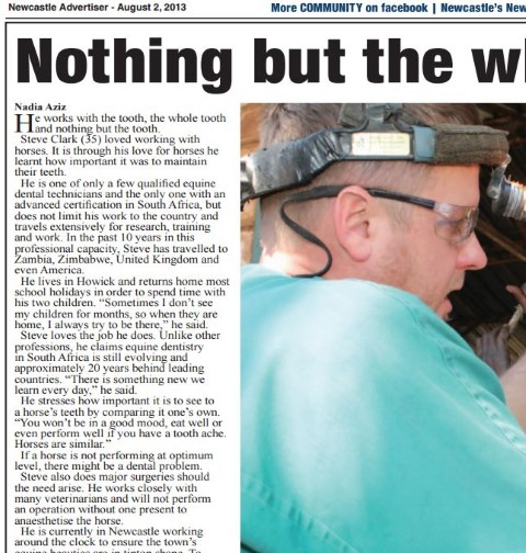 Newcastle Advertiser – August 2, 2013